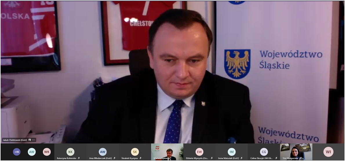 Marszałek Jakub Chełstowski podczas seminarium