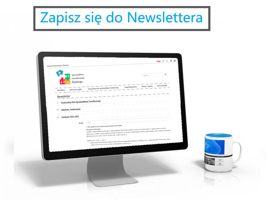 Grafika promocyjna - zapisz się do newslettera. Obraz Ralf Kunze z Pixabay