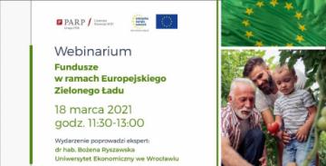 Webinarium: Fundusze w ramach Europejskiego Zielonego Ładu