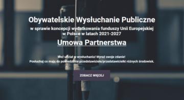 Zabierz głos ws. Umowy Partnerstwa na lata 2021-2027